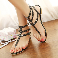 Candy Color Sandals with Cute Studs for Women GH061621