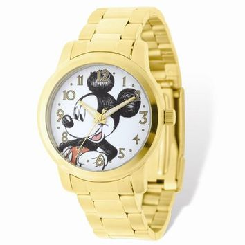 Mickey Mouse Gold-Tone Watch