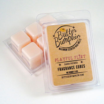 Playful Flirt Scented Wax Melts - Feminine Fragrance Wax Cubes - Candle Melts Similar to Pink Sugar Scent of Vanilla Cotton Candy and Musk