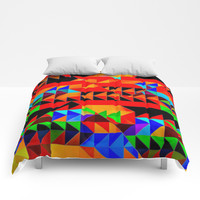 Aztec Pyramid Inspired Design Comforters by Sheila Wenzel