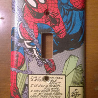 Comic Book superhero comic light switch cover Spider-Man