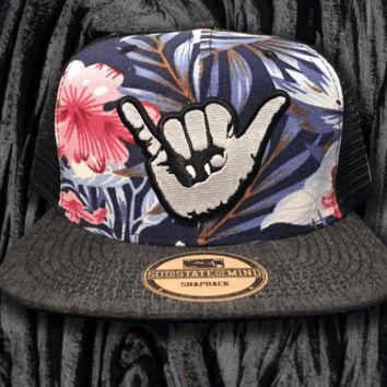 "50th State ""Shaka Floral"" Snapback Hat"
