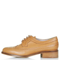 KATIE Lace-Up Brogues - Tan