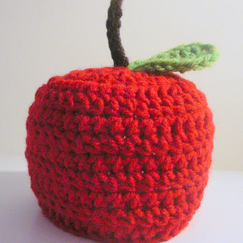 Apple Hat PDF Crochet Pattern - Newborn to Adult INSTANT DOWNLOAD