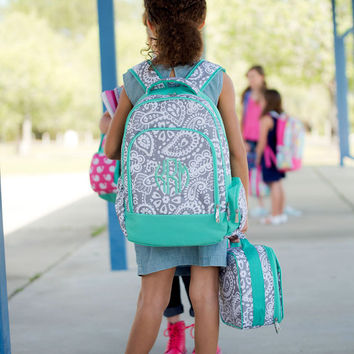 School Ager Backpack and lunch set - Paisley Parker