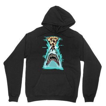 pizza shark graphic Unisex Hoodie