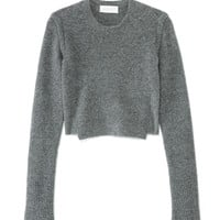 A.L.C. Cropped Leitar Sweater - Chunky Knit Sweater - ShopBAZAAR