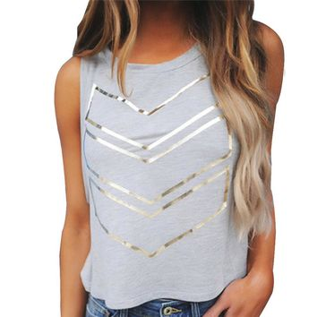 2017 Summer Style Women Fashion Tank Top Printing Sleeveless Vest Casual O-Neck Plus Size Blusas T-Shirts Ladies Plus Size Mar 3