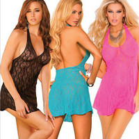 On Sale Sexy Hot Deal Cute Spaghetti Strap Dress See Through Exotic Lingerie [6596638851]