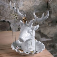 Aldea Home | Deer Jewelry Holder
