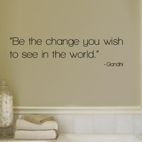 Change - Gandhi Wall Decal at AllPosters.com