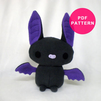 Plushie Pattern - Plush Bat Sewing Pattern PDF