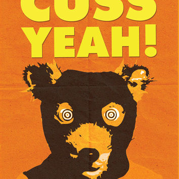 Fantastic Mr. Fox Poster, Cuss Yeah! Mr. Fox Movie Poster Art Print