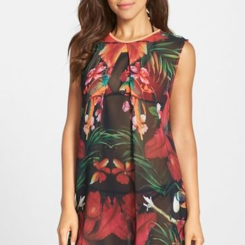 Women's Ted Baker London 'Tropical Toucan' Cover-Up Tunic