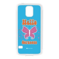 Sassy - Hello Gorgeous 10433 White Silicon Rubber Case for Galaxy S5 by Sassy Slang