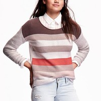 Old Navy Roll Neck Textured Knit Sweaters