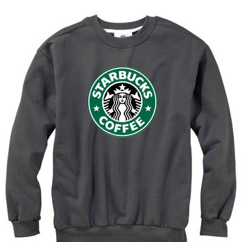 Men Starbucks coffee Crew Neck Sweatshirt Quality American Brand apparel S-3XL