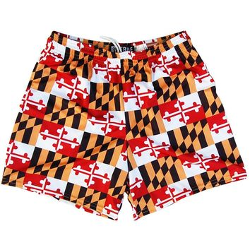 Maryland Flag All-Over Womens & Girls Sport Shorts by Mile End