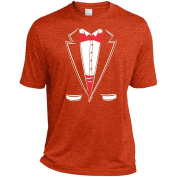 Tuxedo Funny T-Shirt Funny Shirts-01  ST360 Sport-Tek Heather Dri-Fit Moisture-Wicking T-Shirt