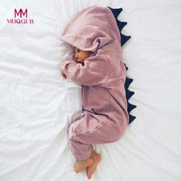 New Kids Clothes Newborn Infant Baby Boy Girl Dinosaur Hooded Romper Jumpsuit Outfits Boy Clothes Autumn Children Clothing