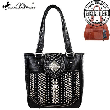 Montana West MW223G-8349 Bling Bling Concealed Carry Handbag