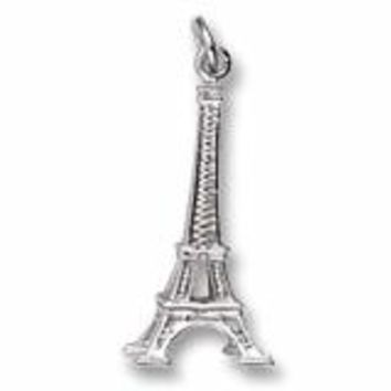 Eiffel Tower Charm In 14K White Gold