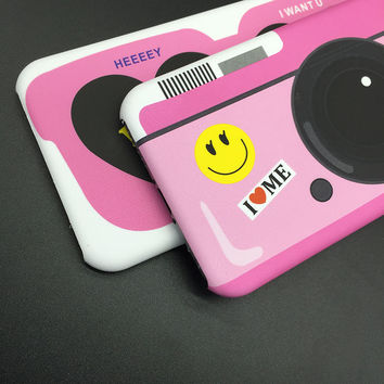 Iphone Phone Case Korean Innovative Pink Camera Apple Strong Character Glasses [8153010439]