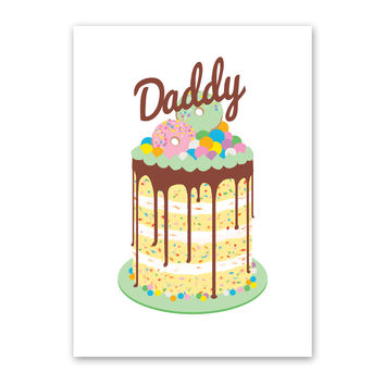 ROCK SCISSOR PAPER CAKE FATHER'S DAY CARD
