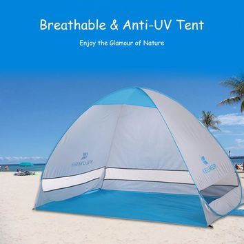 2 Persons Automatic Beach Tent Outdoor Instant Pop-up Summer Camping