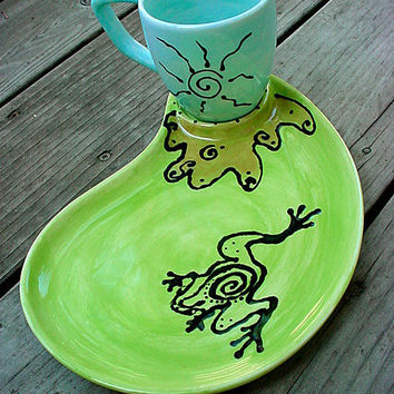 You design custom snack set plate and cup personalized in your theme
