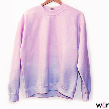 Shop Dip Dye Sweatshirt on Wanelo