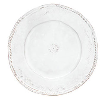 Vietri Bellezza White Dinner Plate