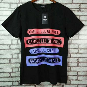 """Chanel ""Hot letters print T-shirt top"