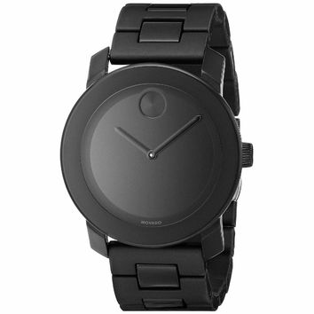Movado Bold 3600047 Large Black Polymer Bracelet Watch