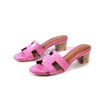 Hermes Women Fashion Casual Low Heeled Shoes Slipper Shoes 2