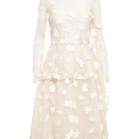 SIMONE ROCHA | Floral Embroidered Long Sleeve Dress | brownsfashion.com | The Finest Edit of Luxury Fashion | Clothes, Shoes, Bags and Accessories for Men & Women