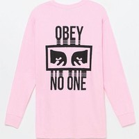 DCCKJH6 OBEY No One Long Sleeve T-Shirt