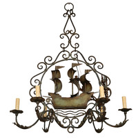Iron Ship Chandelier