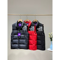 """The North Face"" Unisex Fashion Solid Color Sleeveless Cotton-padded Clothes Vest Jacket Coat"