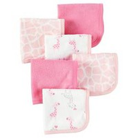 Baby Girls' 6pk Giraffe Washcloths - Just One You™ Made by Carter's® Pink