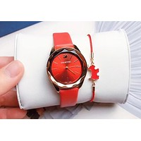 """Swarovski"" High Quality Trending Women Stylish Movement Watch Wristwatch Bracelet Set"