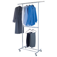 Chrome Double Hang Garment Rack