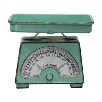 Mint Green Analog Kitchen Scale