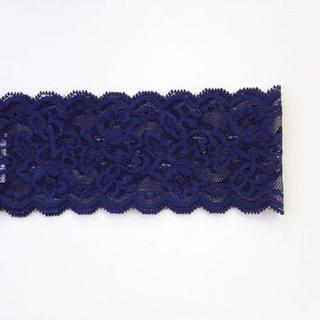 Midnight Blue Lace Headband