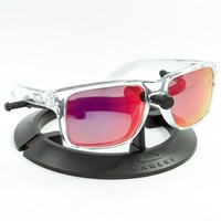 OAKLEY HOLBROOK POLISHED CLEAR FRAME / REVANT MID SUN RUBY RED POLARIZED CUSTOM