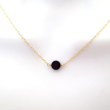 necklace tiny etsy minimal il market coin dainty gold