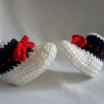 Baby Booties New England Patriots  FREE SHIPPING 535SL