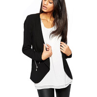 Long Sleeve Zip Blazer