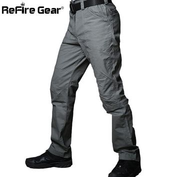 ReFire Gear New IX1 Militar Cargo City Tactical Pants Man Autumn Cotton Rip-stop Army Combat Military Pants Male Casual Trousers