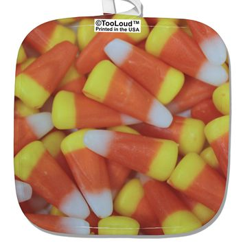 Candy Corn White Fabric Pot Holder Hot Pad All Over Print by TooLoud